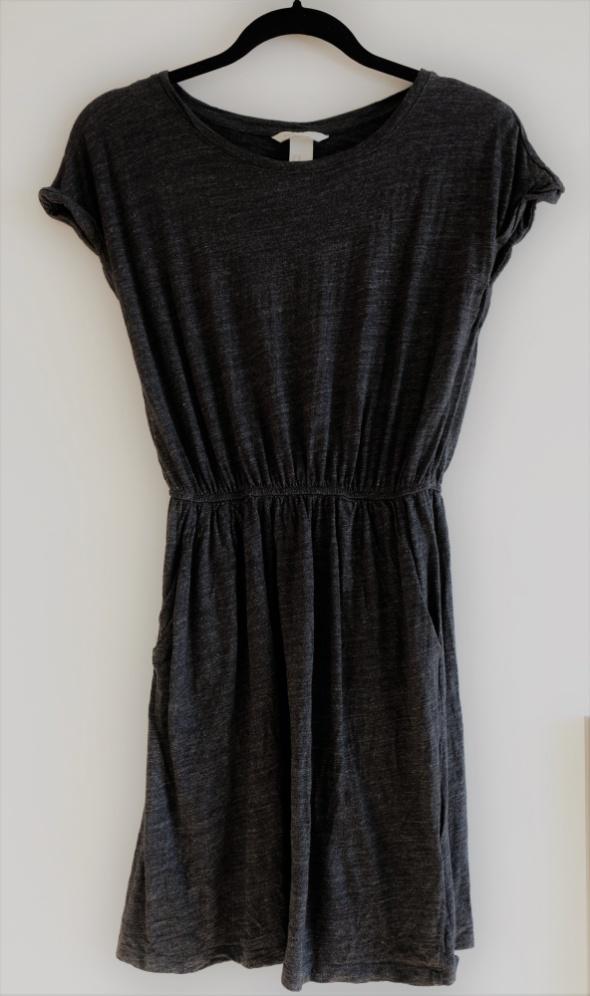Suknie i sukienki szara sukienka H&M XS