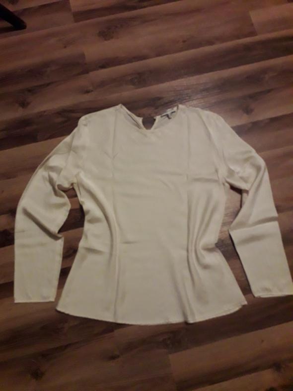 Klasyczna prosta bluzka Cerruti 1881 satyna jedwab M L