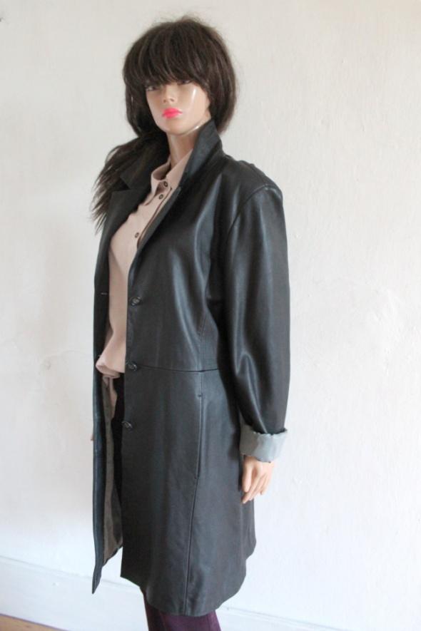 Czarna kurtka skórzana płaszczyk przejściowy r 42...