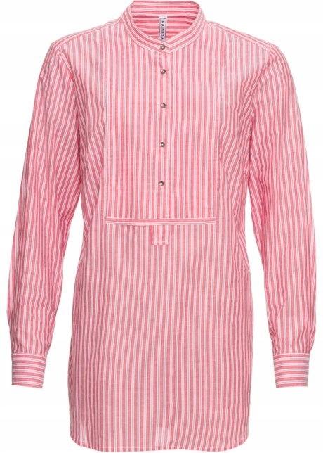 Bluzka koszulowa w paski koszula stójka bawełna...
