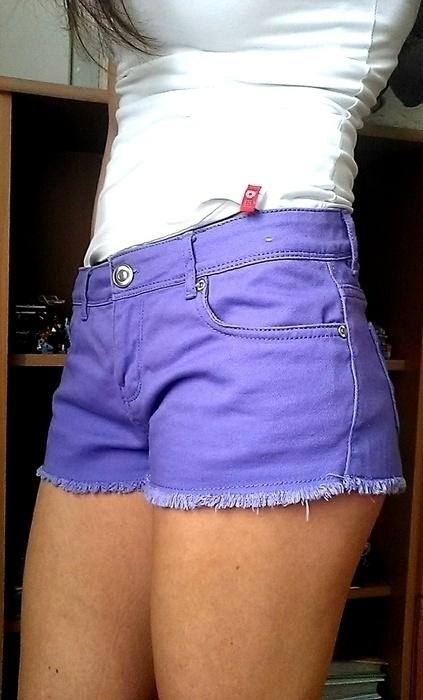 krótkie spodenki jeansowe fioletowe Denim Co M 38...