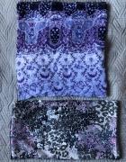Chusta dwie sztuki wzór odcienie fioletu...