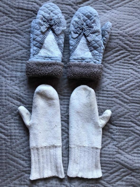 Rekawiczki zimowe dwie pary