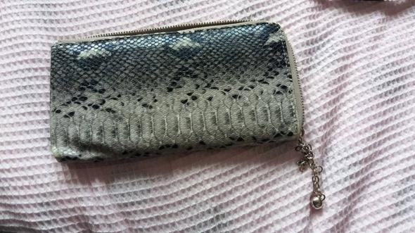 portfel skóra węża mała kopertówka