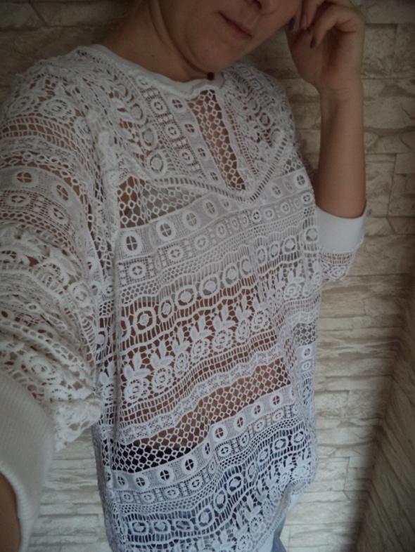 biala bluzka azur gipiura blogerek 42
