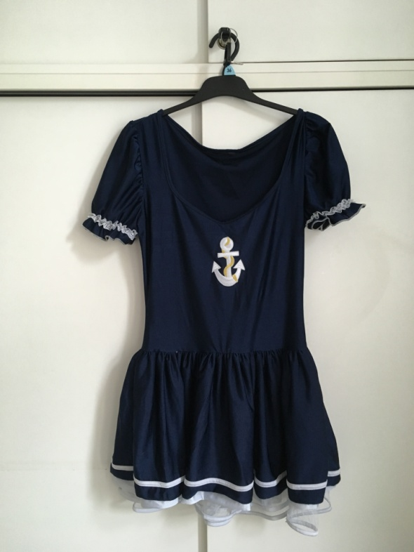 sukienka na bal przebierańców sexy pani marynarz...
