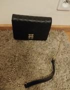 Zień czarna kopertówka na ramię mała torebka na łańcuchu...