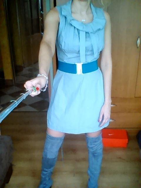 Sukienka popiel szara M