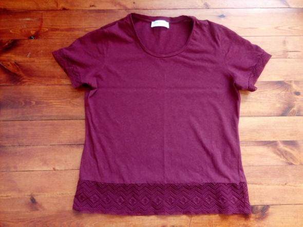 Bordowy tshirt L XL...