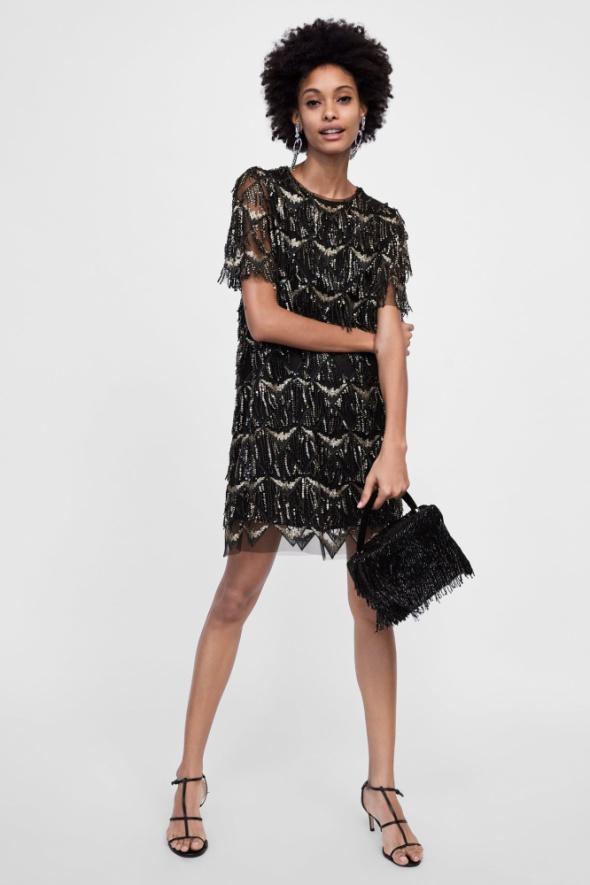 sukienki z cekinami zara czy modne