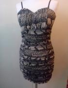 sukienka wzór zwierzęc miso 36 38...