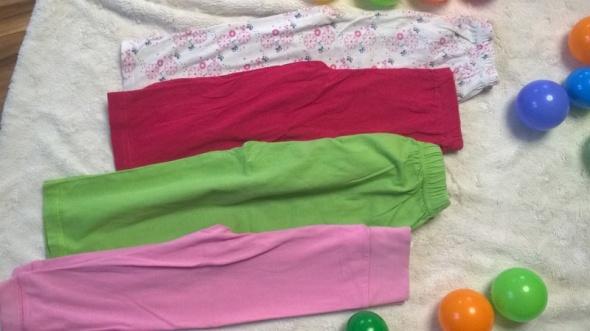 Piżamki r 92 4 pary spodni od piżamy