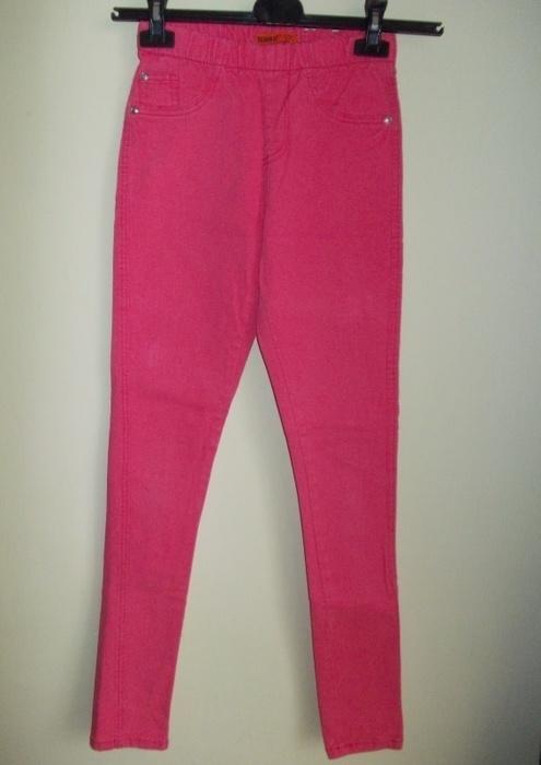 Spodnie rurki tregginsy różowe DENIM CO 34 36...