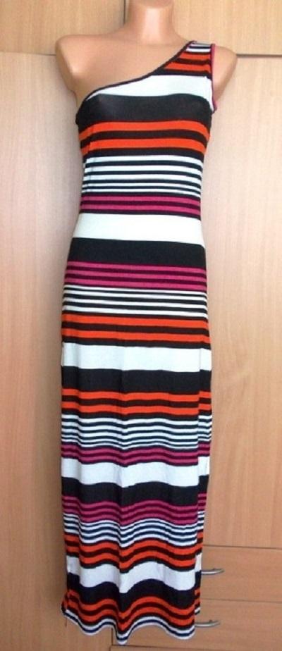 Sukienka długa maxi asymetryczna paski MISO 38 40...