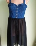 Sukienka narzutka mgiełka jeansowa FOREVER21 38...