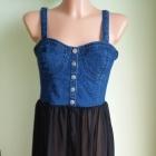 Sukienka narzutka mgiełka jeansowa FOREVER21 38