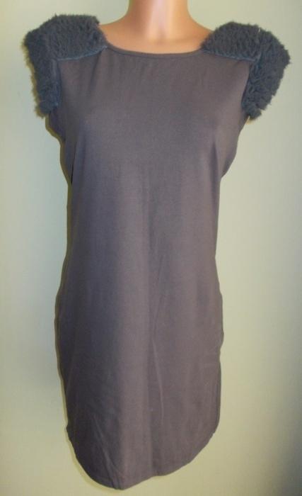 Sukienka tunika szara z puszkiem Warehouse 40 42...