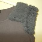 Sukienka tunika szara z puszkiem Warehouse 40 42