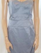 Sukienka ołówkowa srebrna Miss Selfridge 38...