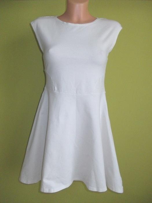 Sukienka rozkloszowana biała TopShop 38 40