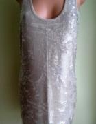 Sukienka ołówkowa w cekiny nude River Island 38 40...