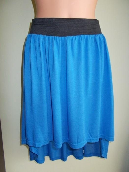 Spódnica asymetryczna krótka niebieska 38 40