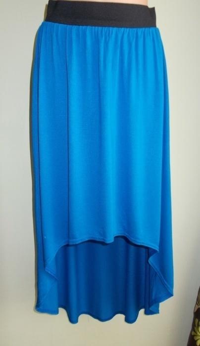 Spódnica asymetryczna midi niebieska Tammy 36 38