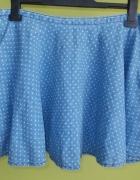 Spódnica rozkloszowana jeansowa w kropki DENIM CO