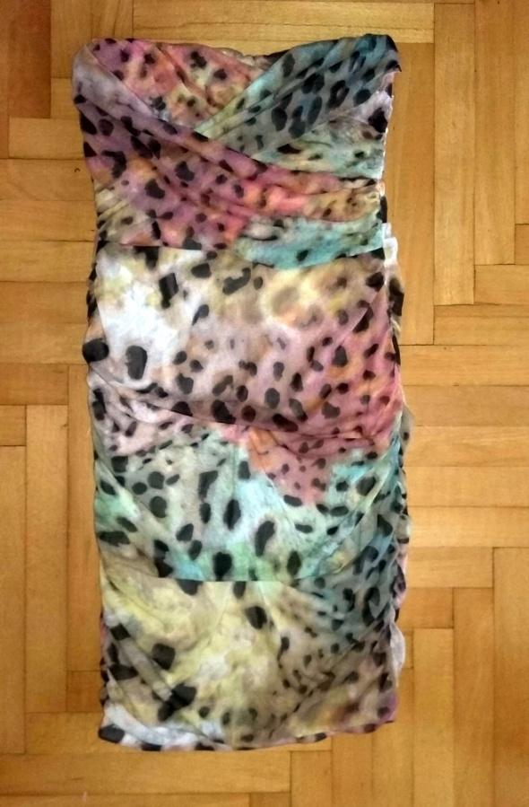 kolorowa sukienka tuba r XS 34