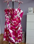 lipsy london sukienka w kwiaty biało różowa L 40...