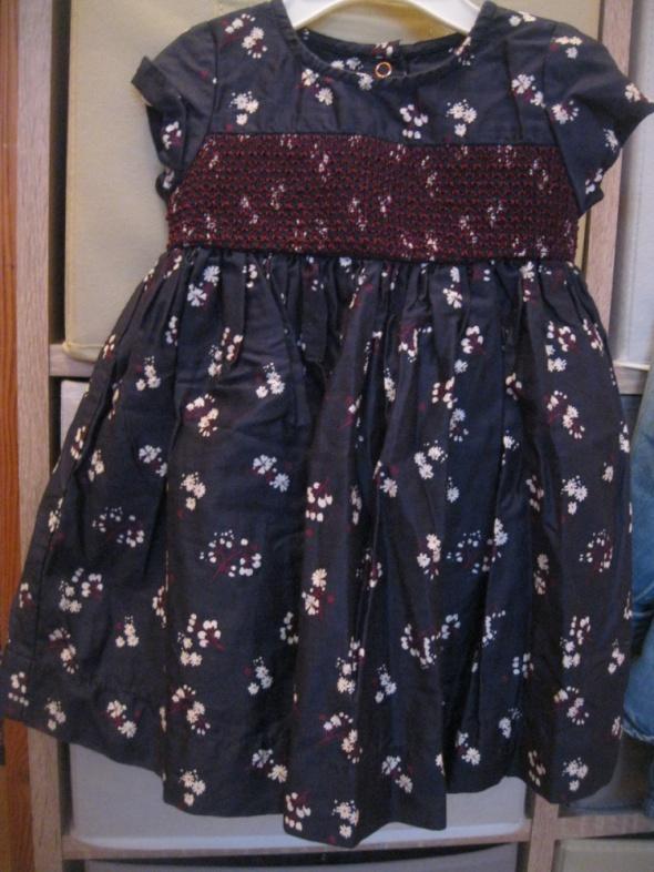sukienka dla małej damy 74 granatowa