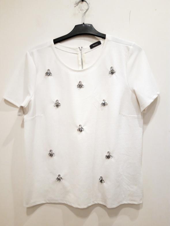 biała bluzka z kamykami C&A 44...