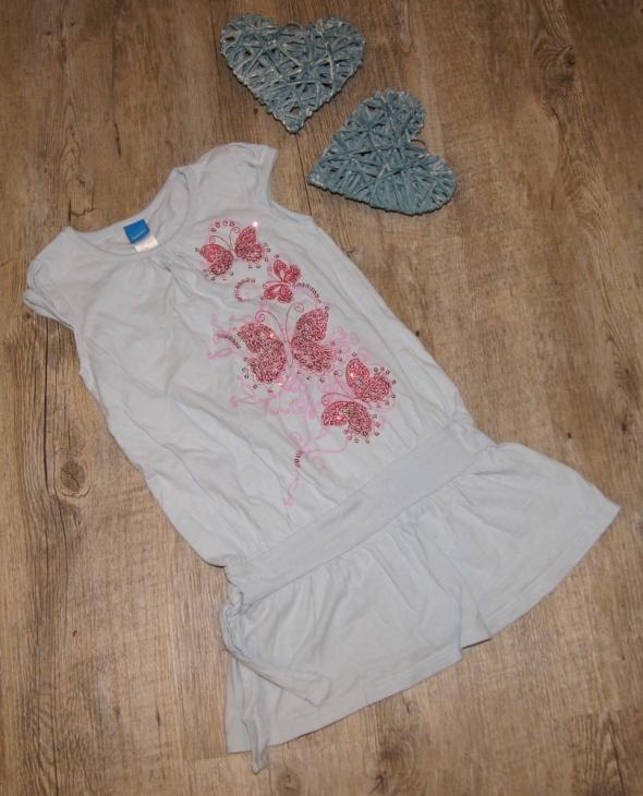 Sukienka dziewczynka motyle cekiny rozm 110