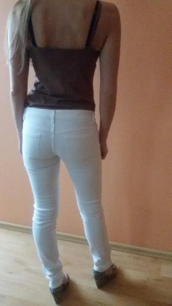 Białe jeansy...