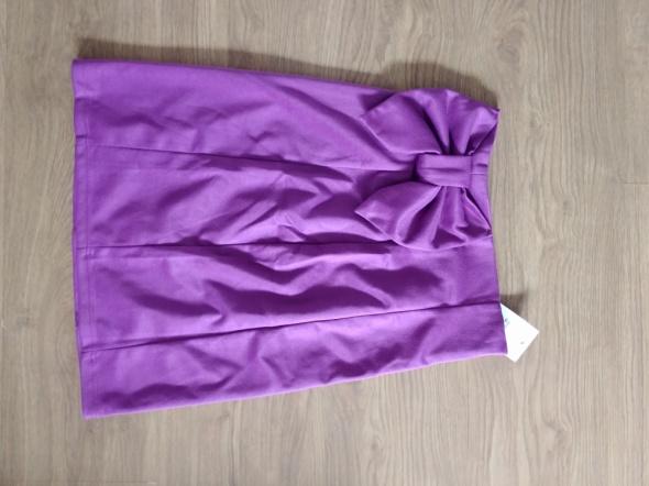 Spódnice Fioletowa spódnica z kokardą Figl