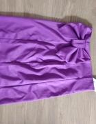 Fioletowa spódnica z kokardą Figl...