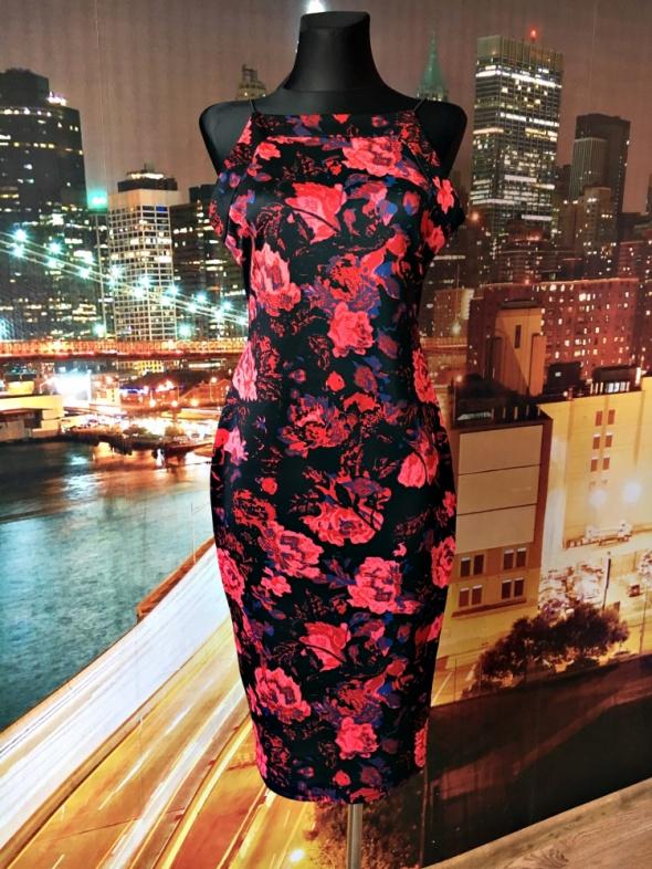 ax paris sukienka ołówkowa kwiaty floral hit blog 40...