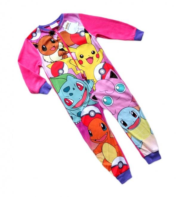 Piżama śpioch pajac Pokemony kombinezon 110 122