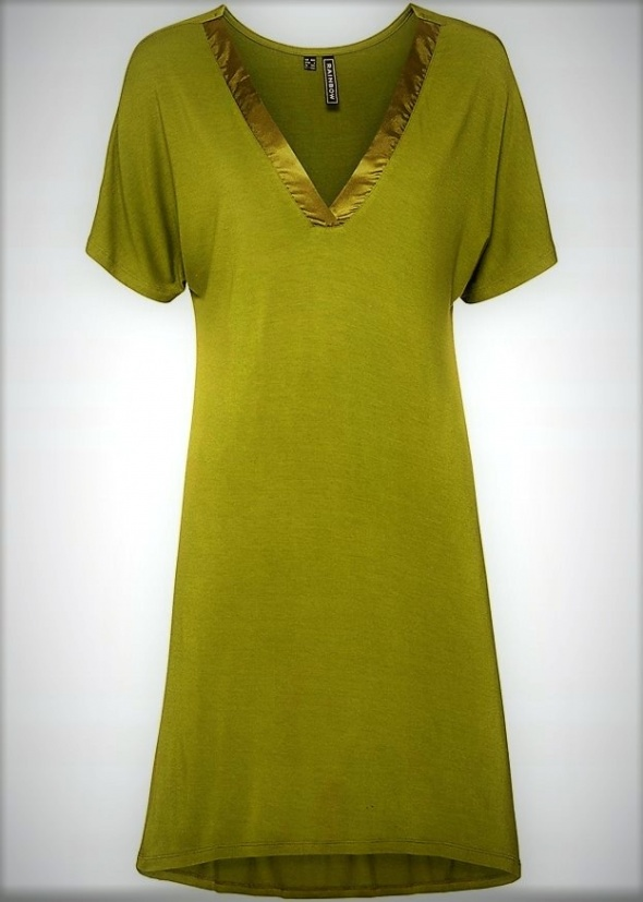 Sukienka khaki prosta wygodna asymetryczna...
