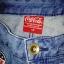 COCA COLA krótkie spodenki jeans Cieniowane naszywki M