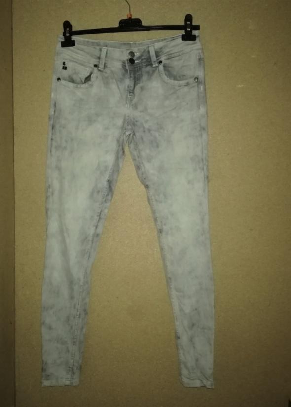 Big Star Jasnoszare elastyczne jeansy rurki W30 L30...