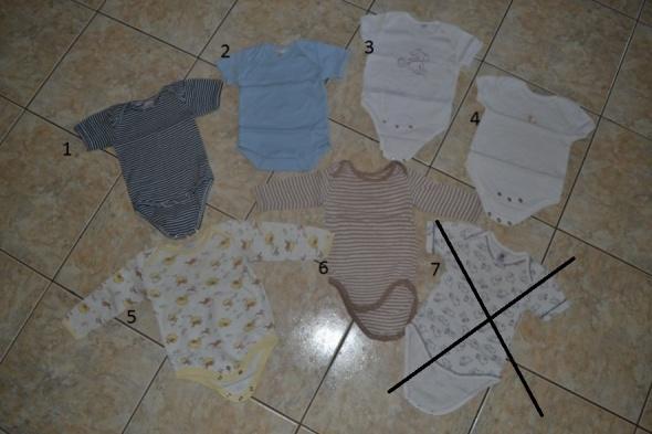 Bielizna dziecięca 7 sztuk Body 56cm 62cm 68cm 0 6 mc