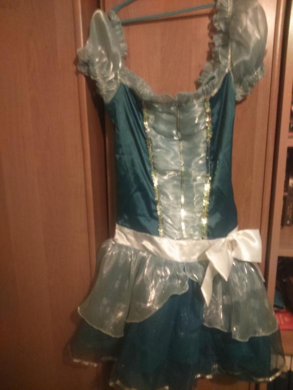 suknia niebieska