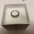 Śliczny srebrny pierścionek 925 duży rozmiar