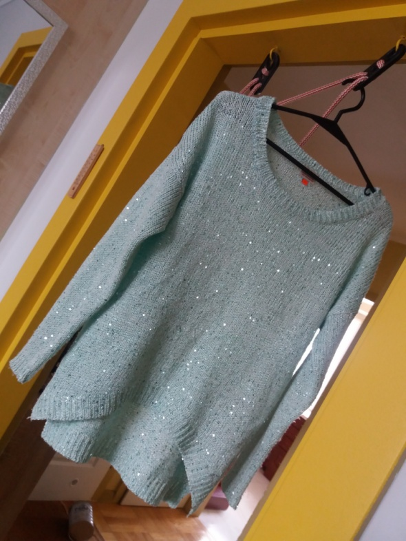 Miętowy sweterek Only...