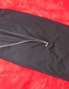 Maxi czarna spódnica z zipem L XL...