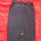 Maxi czarna spódnica z zipem L XL