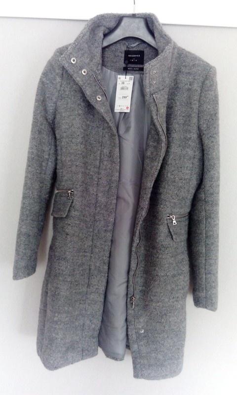 Płaszcz wełniany Reserved taliowany 36 Nowy z metka