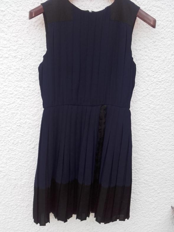 b03480233c sukienka granatowa Mango 40 plisowana w Suknie i sukienki - Szafa.pl