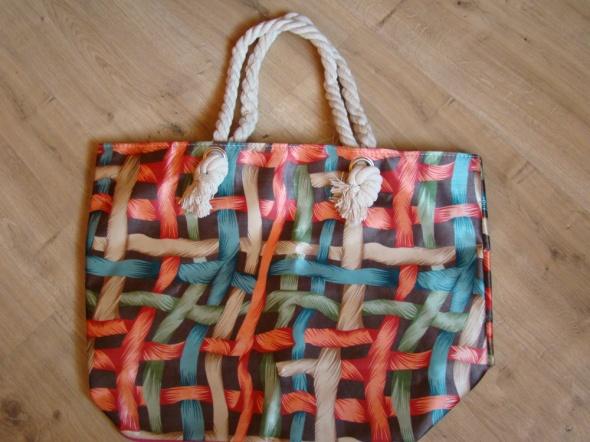 SHOPPERKA Shopper bag torba kolorowa plażowa XXL Nowa